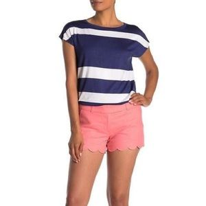 NWT J. By J. Crew Pink Linen Scalloped Shorts